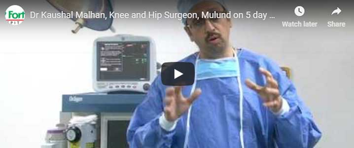 dr kaushal malhan total hip replacement video